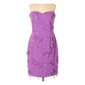 BcbgMaxAzria strapless purple lace dress